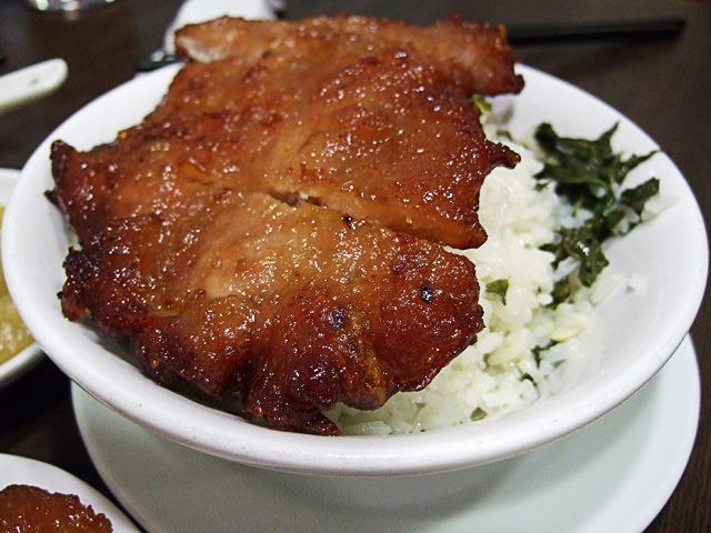Pork rib rice
