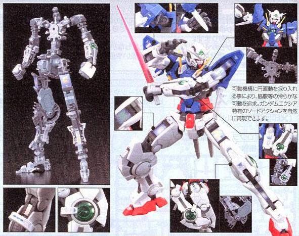 Gundam Exia RG 1/144 với các chi tiết nhựa cao cấp, sắc nét
