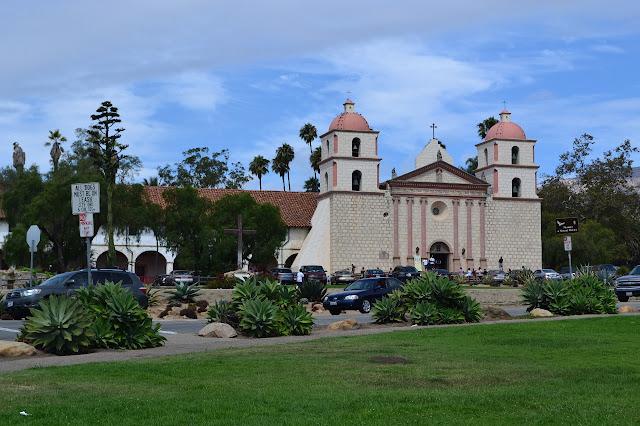 Santa Barbara Mission from the rose garden