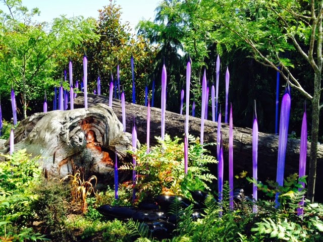 Outdoor art at Chihuly Glass Musesum - cultivatedrambler.com