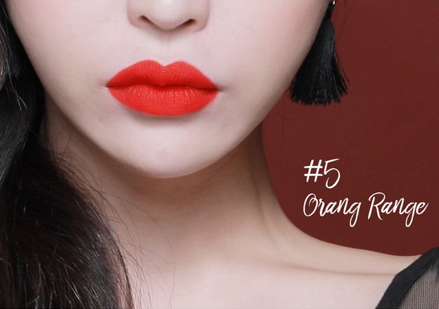 Son Plumeria Color Infusion Matte Lip Orange Red