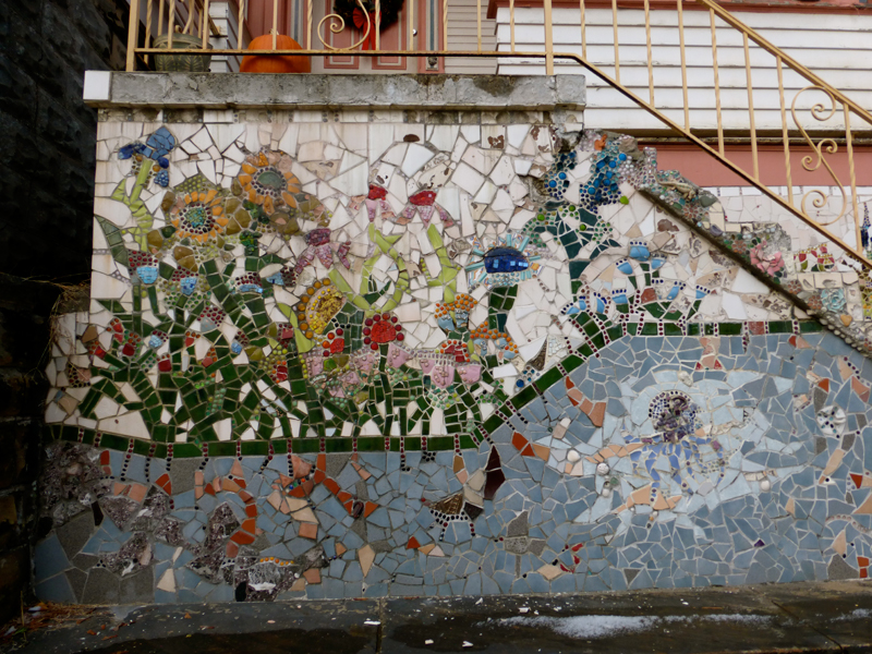Pittsburgh murals and public art foundation mosaics by for Broken glass mural