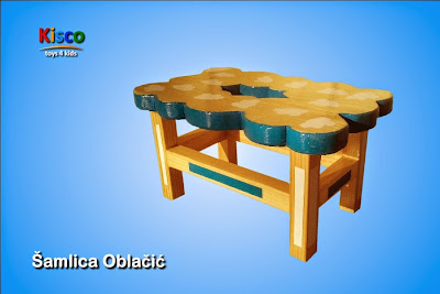 šamlica, drvena, stolica, za decu