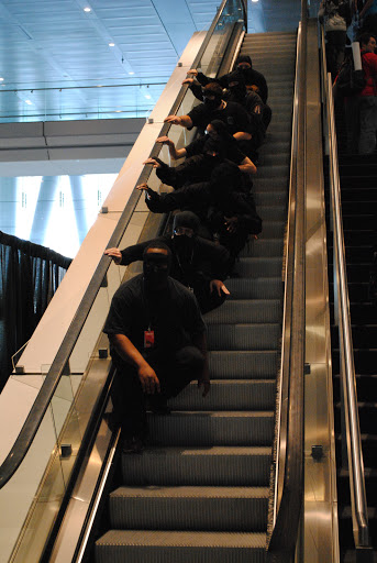 No escalator can stop a ninja!