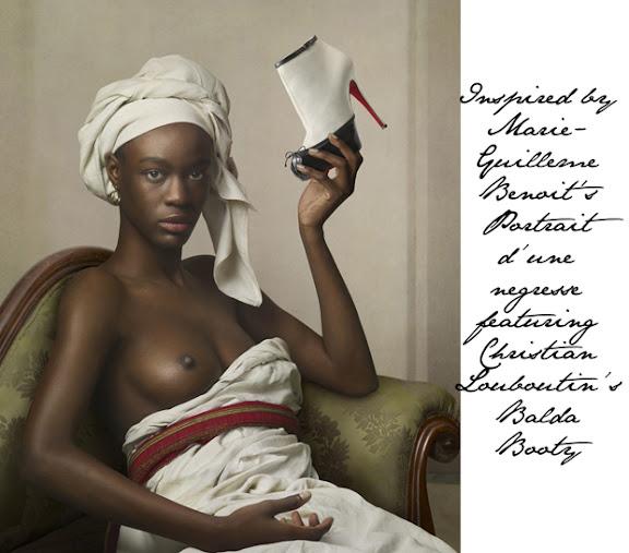 Негритянка в босоножках