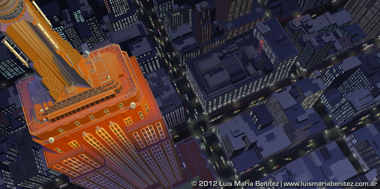 Empire State Building illustration © Luis María Benítez