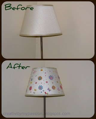 Spring Makeover Lampshade