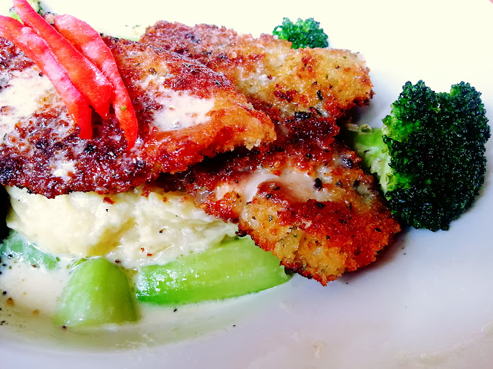 Furikake Crusted Tilapia Filet with Wasabi Mashed Potatoes