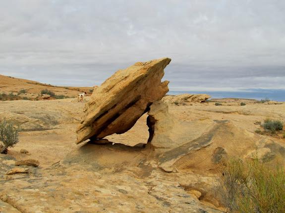 Fallen balanced rock
