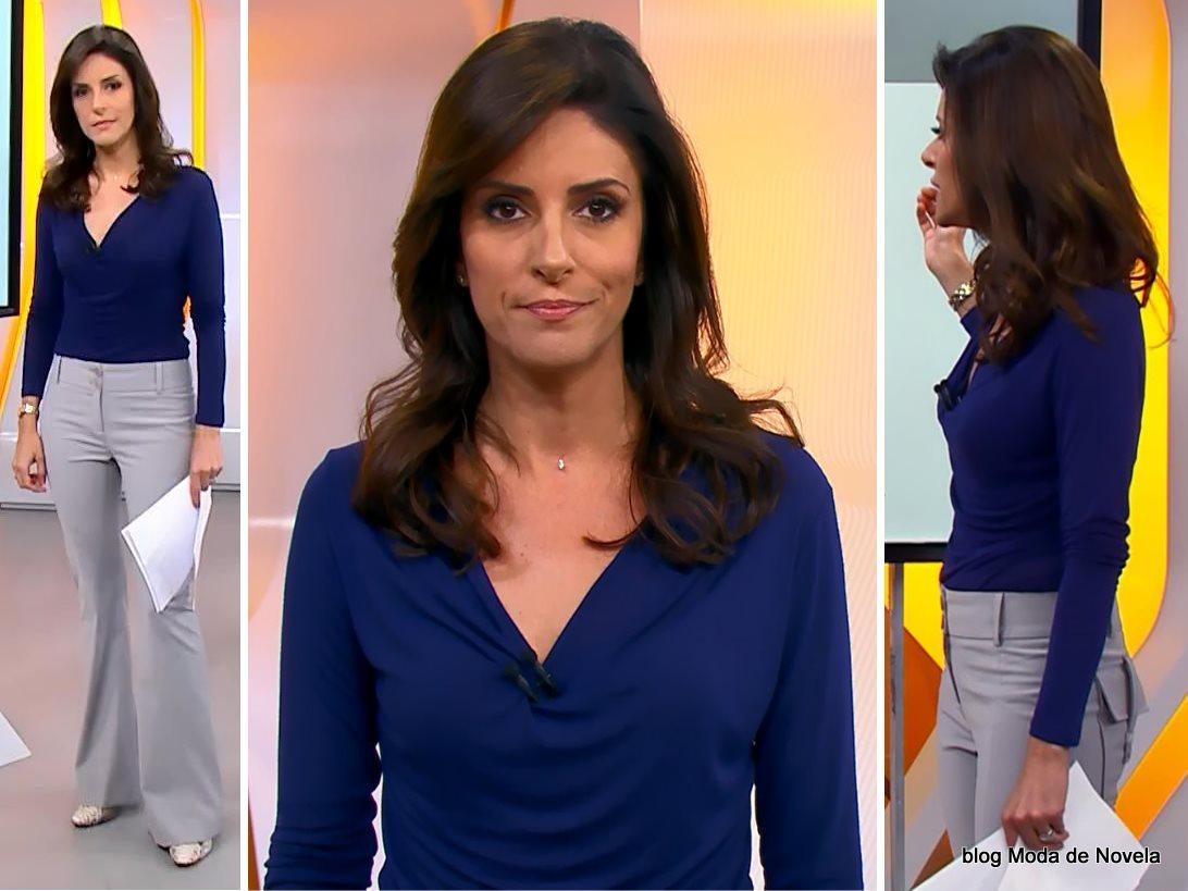 moda do programa Hora 1, look da Monalisa Perrone dia 8 de janeiro