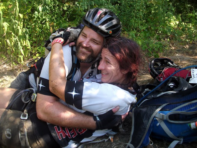 An adnveture race hug