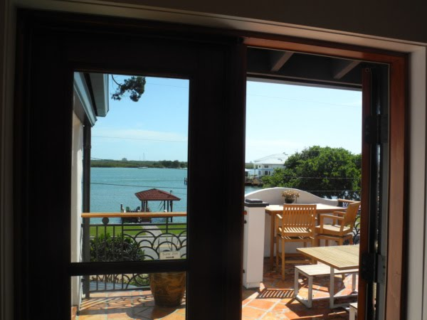 Room opens up onto shared sundeck at the Black Dolphin Inn, overlooking the Indian River.