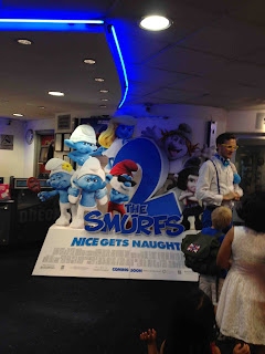 Smurfs 2 cinema cut out standee