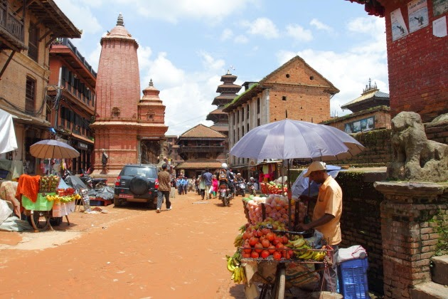 Fruit Seller at Bhaktapur Heritage Area