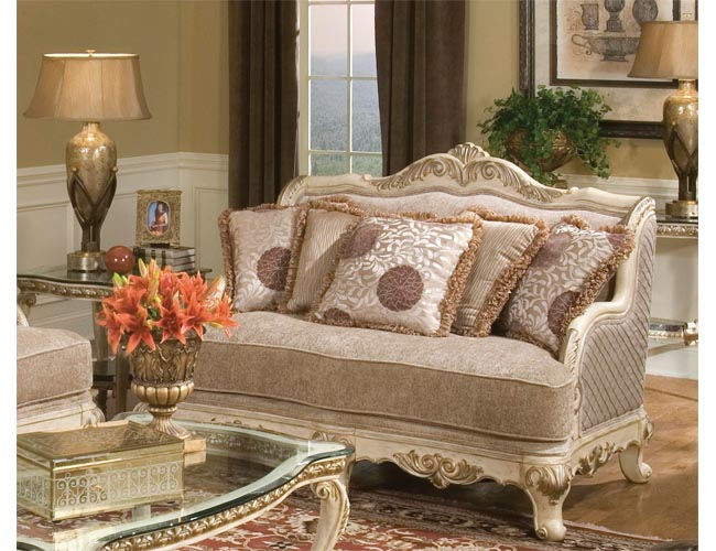 Furniture adding luxury with leather living room - Antique victorian living room set ...