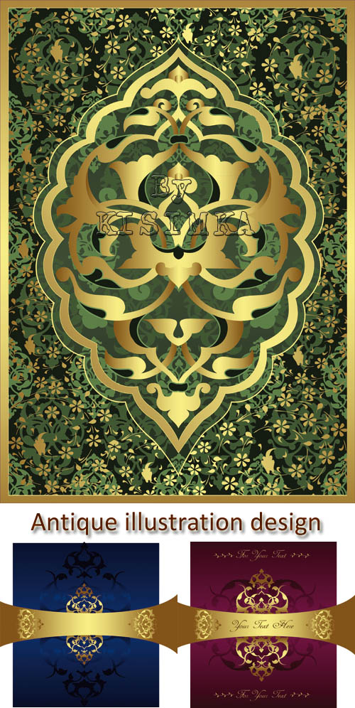 Stock: Antique ottoman illustration design