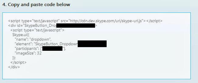 chat skype pada blog