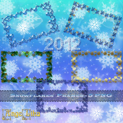 Frames for Photo - Snowflakes Frames