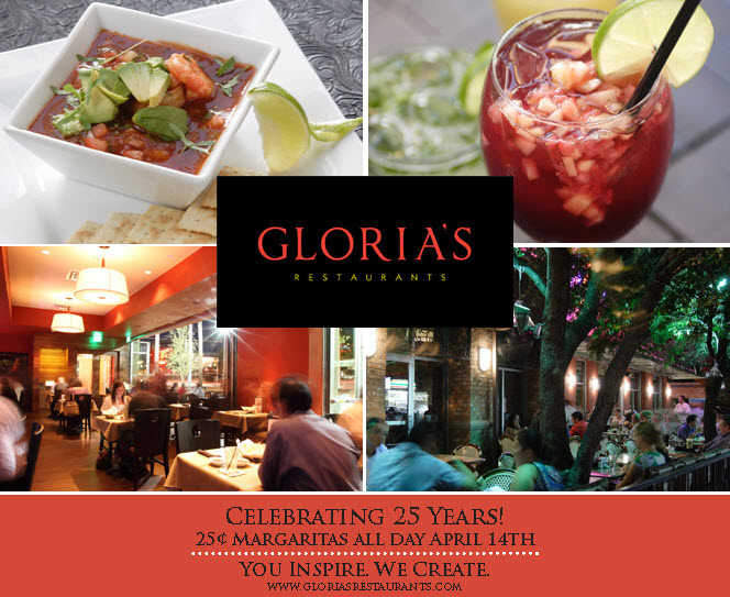 Gloria S Restaurants 25th Anniversary