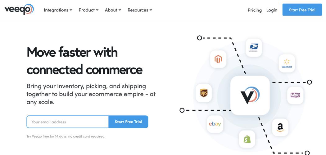 The Veeqo website.