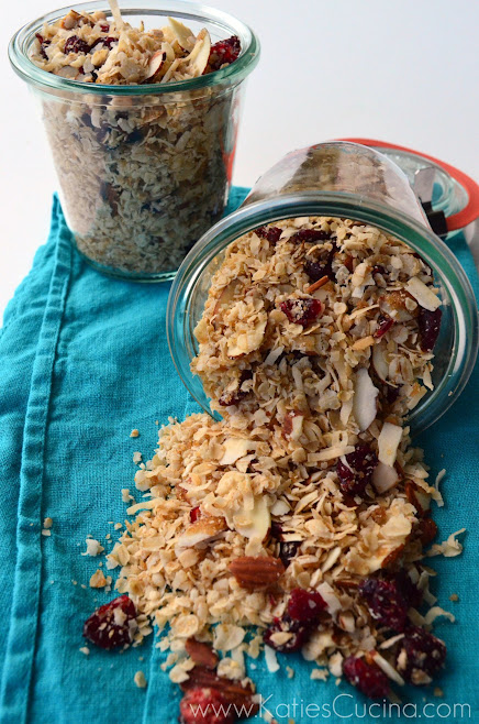 Coconut Cherry Granola from KatiesCucina.com #BrunchWeek