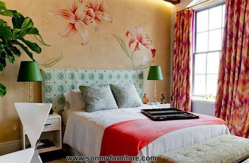 Rộn ràng hoa lá trong phòng ngủ mùa xuân hè_nội thất phòng ngủ-12