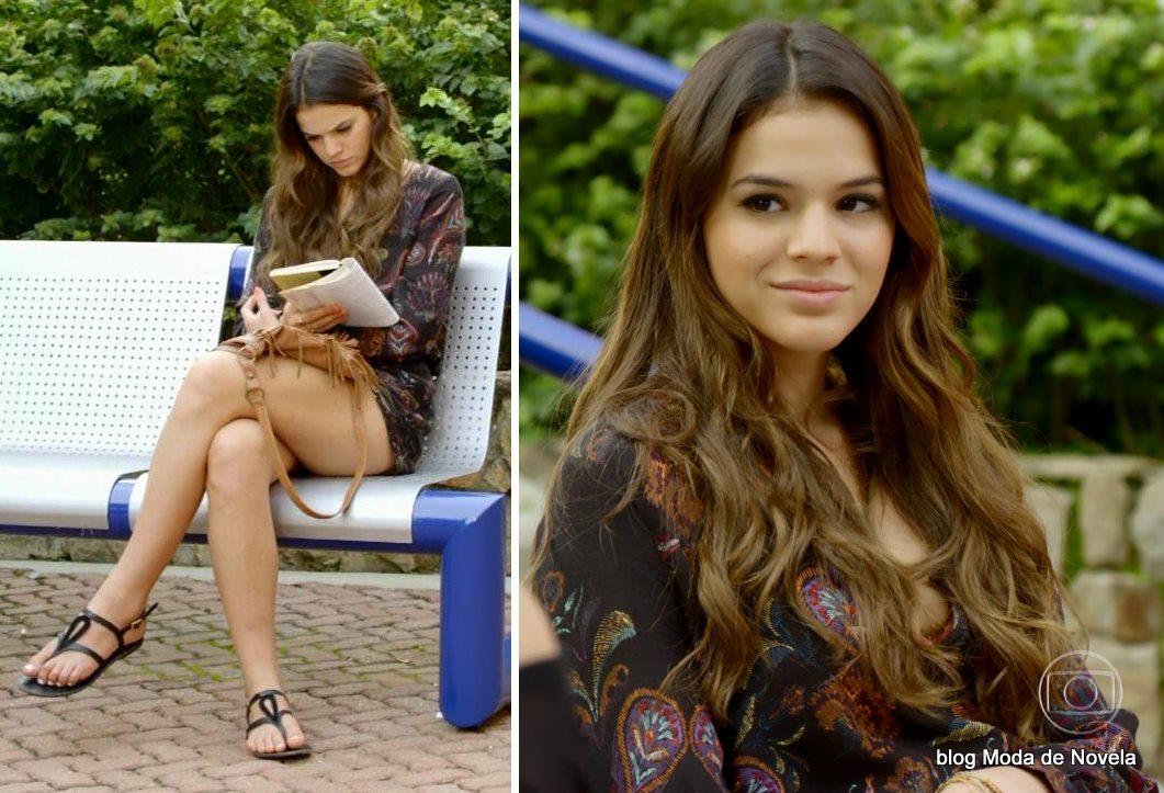 moda da novela Em Família - look da Luiza dia 18 de junho