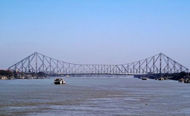 howrah bridge against blue sky