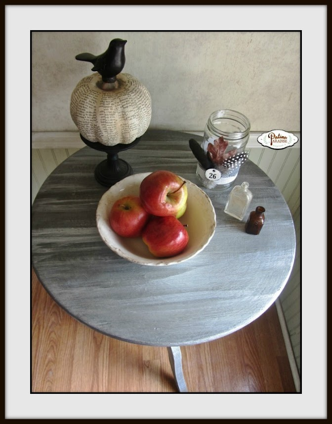 Pedestal Table With Weathered Finish