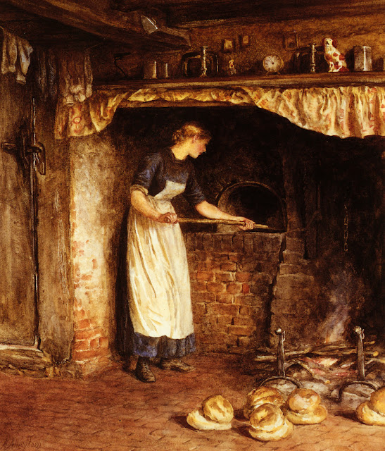 Helen Allingham - Baking Bread
