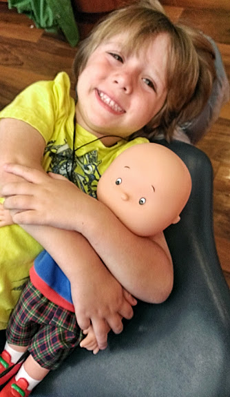 IMAG4608 How My Little Lion Man Loved The Caillou Talking Doll {review}