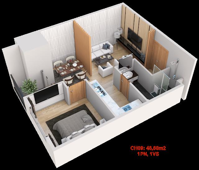Thiết kế căn hộ 09 tháp doanh nhân