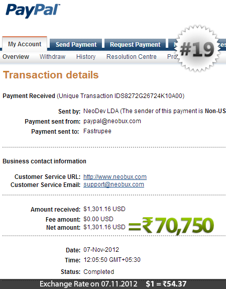Neobux Payment Proof 19
