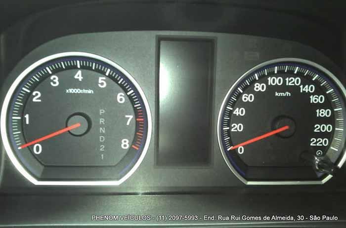 Honda CRV 2008 usada LX 4X2 Automática - interumentos painel