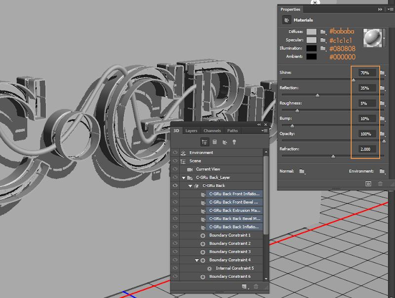 Photoshop - เทคนิคการสร้างตัวอักษร 3D Glowing แบบเนียนๆ ด้วย Photoshop 3dglow32