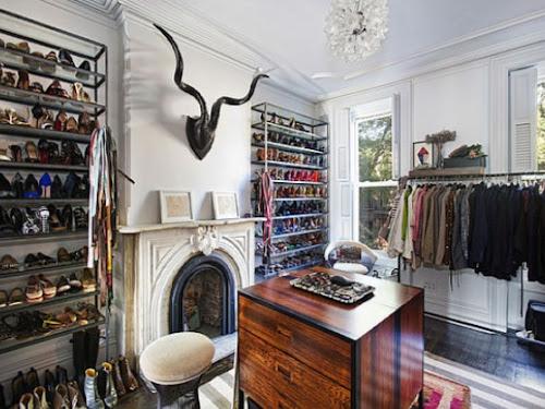 jenna lyons home brooklyn townhouse closet interior design