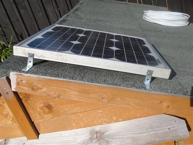 Attaching Small Solar Panel To Shed Roof Scrap To Power