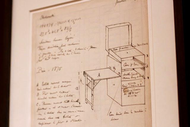 Louis Vuitton history sketch at the Cabinet d'Ecriture in Paris