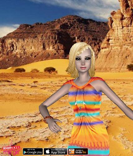 Teen Vogue Me Girl Level 37 - Tribal Swim Shoot - Sienna - Snapshot