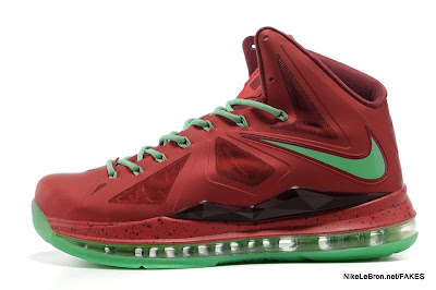lbj10 fake colorway christmas 1 03 Fake LeBron X