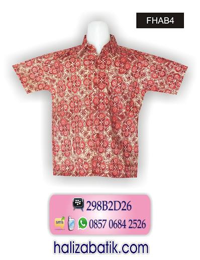 model baju batik terkini, hem batik, batik modis