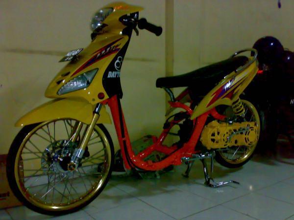 Motor Drag Liar Yamaha Mio Matic Yellow