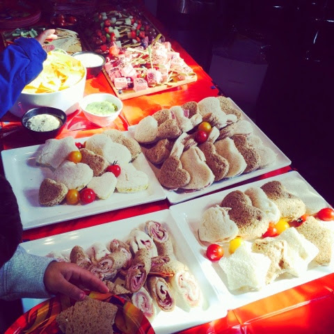 Delicious food inside Tower Bridge  at the Fireman Sam Ocean Rescue Event
