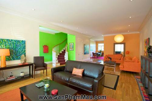 Bí quyết trang trí phòng khách dài và hẹp - Tủ âm tường-1