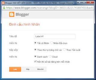 Tùy biến label blogspot #1