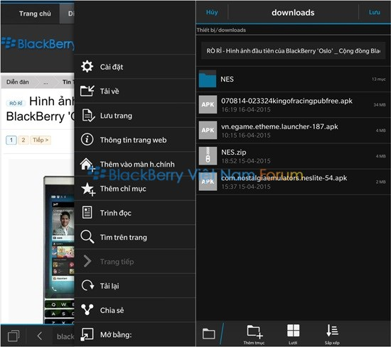 Thủ thuật tối ưu trình duyệt mặc định của BlackBerry 10
