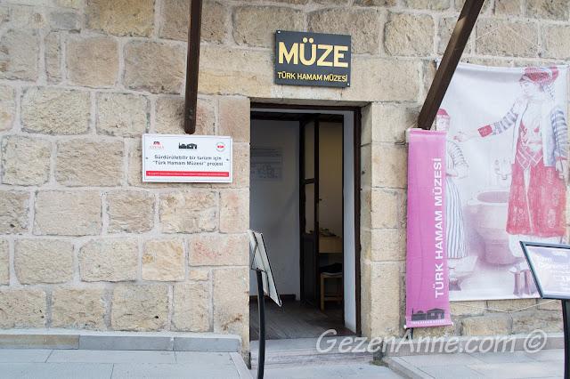 Türk Hamam Müzesi girişi, Beypazarı