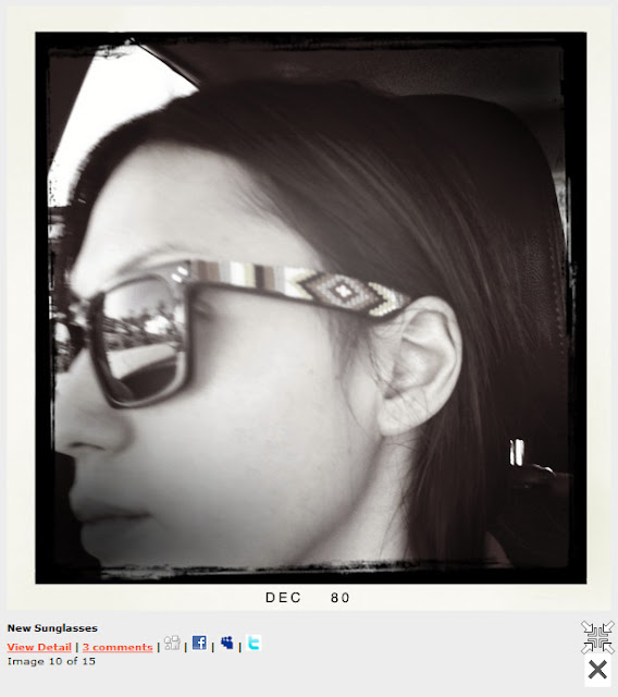 Michelle Branch wearing beaded sunglasses by Jenny Dayco