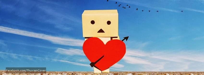 Ảnh bìa tình yêu Danbo có trái tim