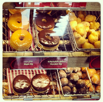 croissants, bagels, donuts and muffins at Tim Hortons